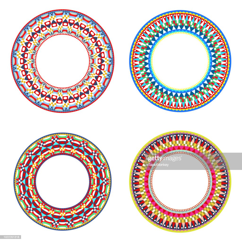 African Maasai beads necklace design vector illustrations