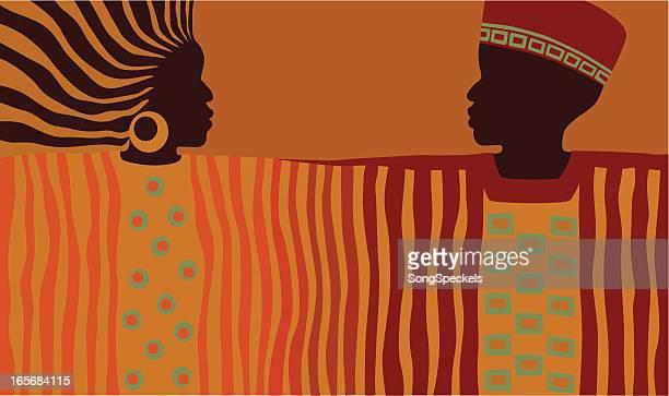 Afrikanische Mann und Frau