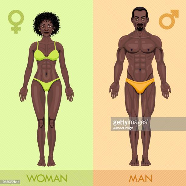African man and woman