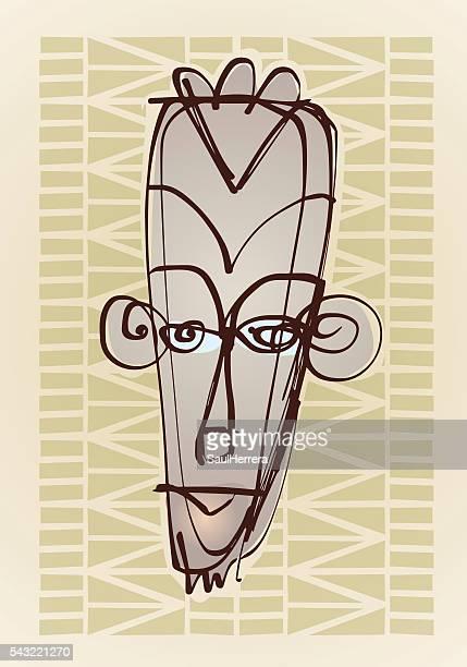 illustrations, cliparts, dessins animés et icônes de african mask illustration - masque africain