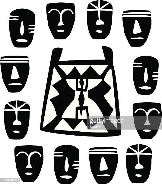 illustrations, cliparts, dessins animés et icônes de masques d'afrique (vecteur - masque africain