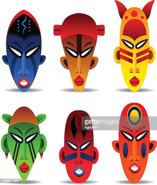 illustrations, cliparts, dessins animés et icônes de masques d'afrique - masque africain