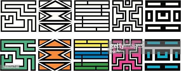 Afrikanischer Muster 1 (Vektor
