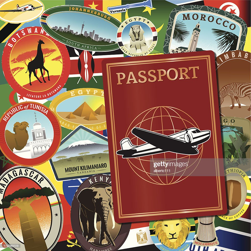 African Travels : stock illustration