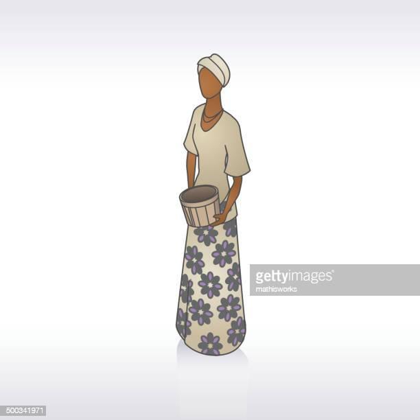 ilustrações de stock, clip art, desenhos animados e ícones de mulher africana ilustração - mathisworks