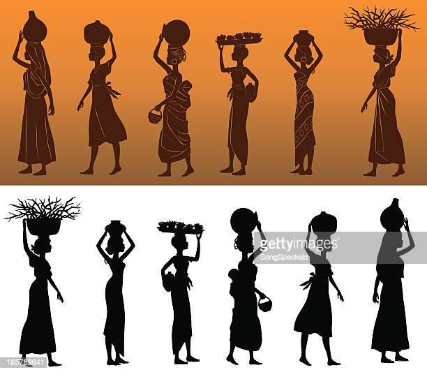 African Women Silhouettes