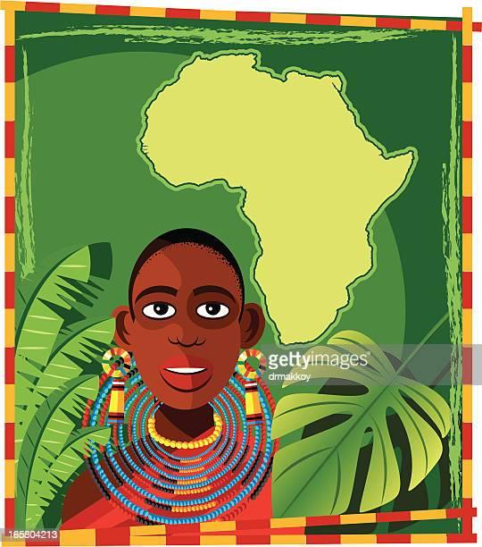 ilustraciones, imágenes clip art, dibujos animados e iconos de stock de las mujeres africanas - masai