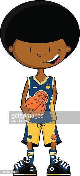 Afro Basketball Boy Character