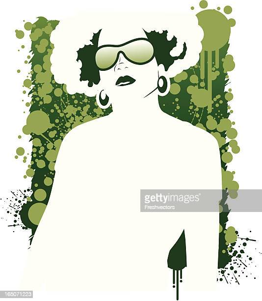 Afro Chic Vector in Green