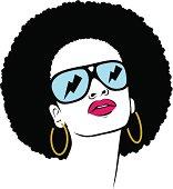 afro hippie woman