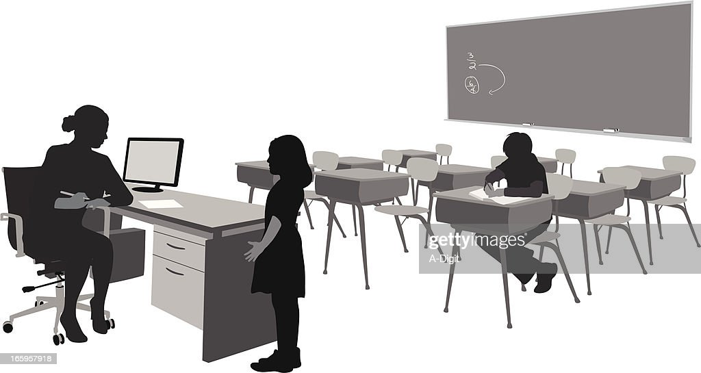 After School Vector Silhouette