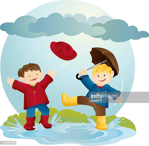 after the rain - puddle stock illustrations, clip art, cartoons, & icons