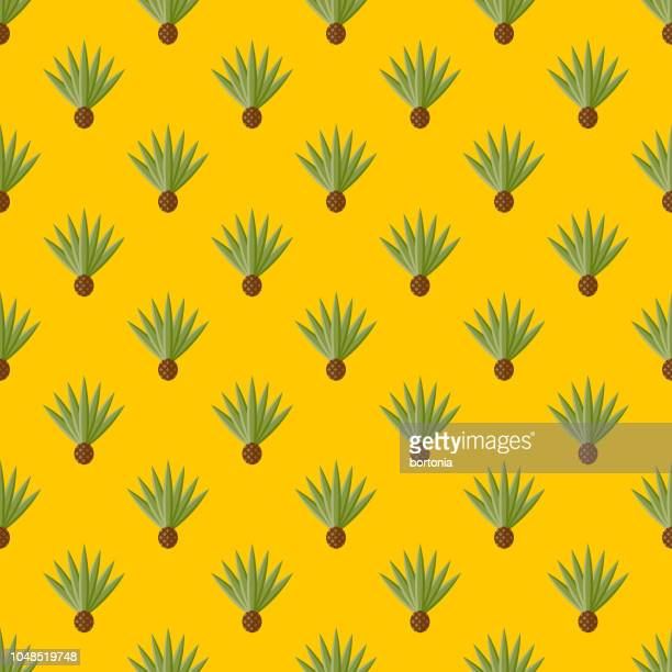 Agave Cinco de Mayo Seamless Pattern