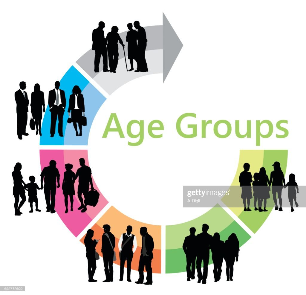 Age Group Chart : Stock Illustration