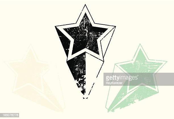熟成とユーズド加工 shooting star コレクション - 溝になった点のイラスト素材/クリップアート素材/マンガ素材/アイコン素材