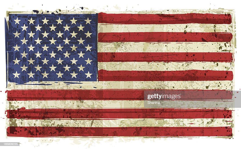 Aged USA Flag