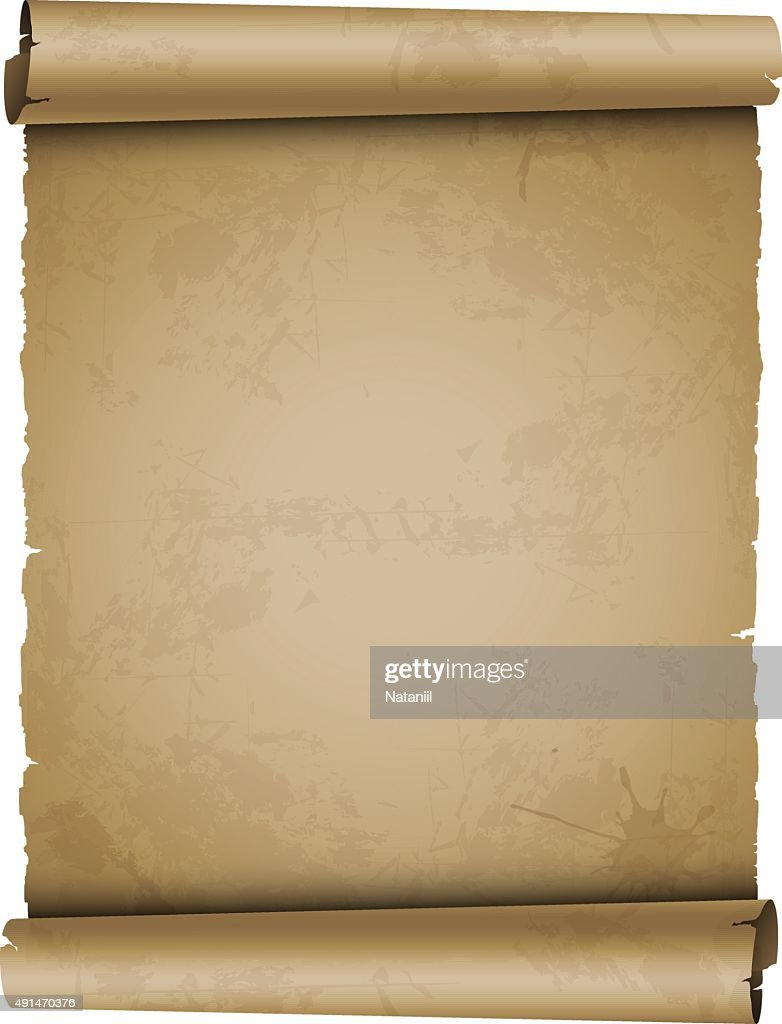 Age-old scroll : Stock Illustration