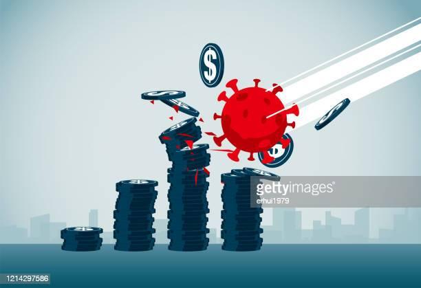 illustrazioni stock, clip art, cartoni animati e icone di tendenza di aggression - economia