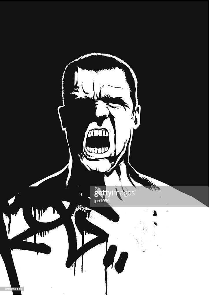 Aggression : stock illustration