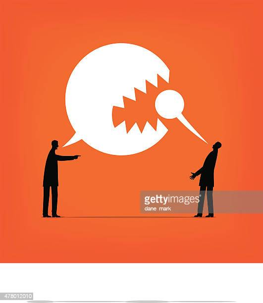 aggression - anti bullying symbols stock illustrations