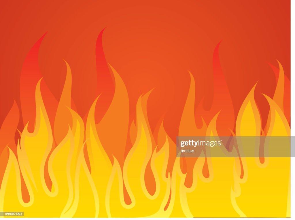 aggressive fire : stock illustration