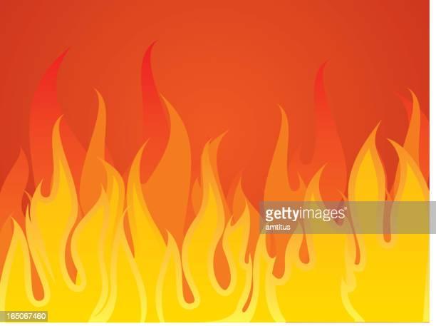aggressive fire - inferno stock illustrations, clip art, cartoons, & icons