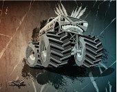 Aggressive Monster Truck Grunge