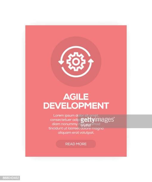 agile development - flexibility stock illustrations