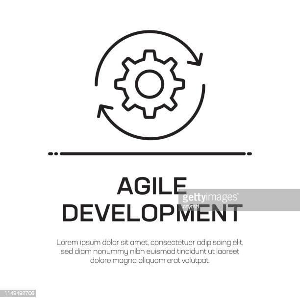 agile development vector line icon - simple thin line icon, premium quality design element - flexibility stock illustrations