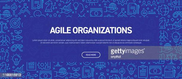 agile organizations concept - business related seamless pattern web banner - flexibility stock illustrations