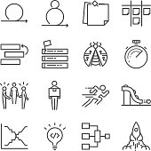Agile Software Development icons set