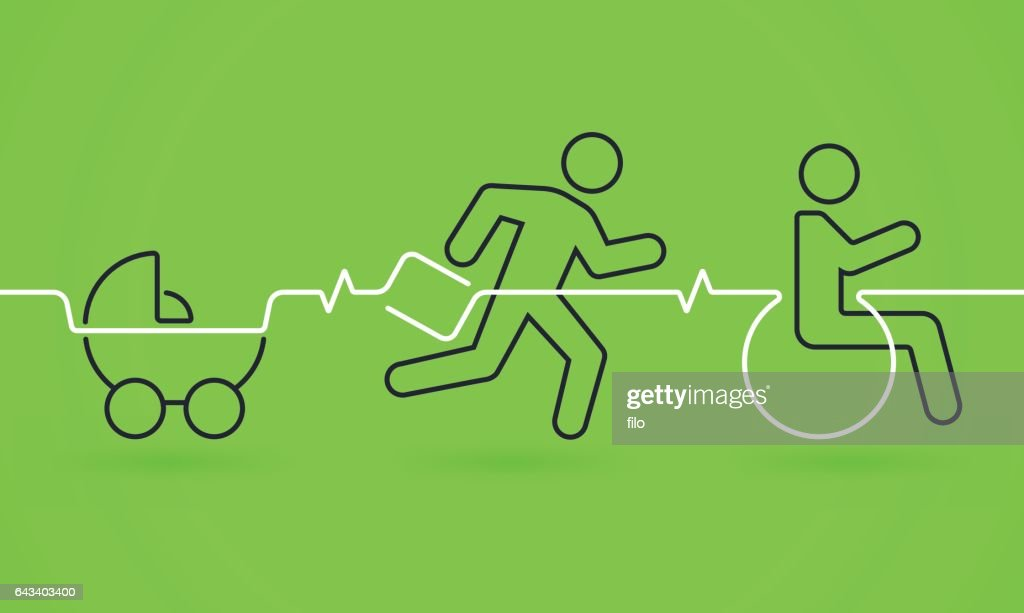 Aging Process Life Line : stock illustration