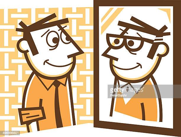 aging - mature adult stock illustrations
