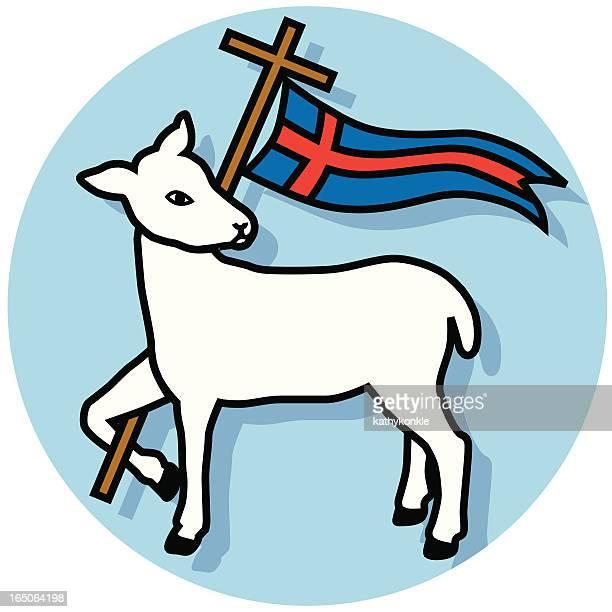 Agnus de carneiro e banner