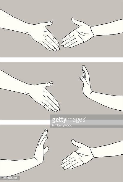 illustrations, cliparts, dessins animés et icônes de d'accord ou pas d'accord - éviter de se serrer la main