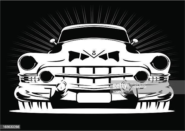Agressive V8 car