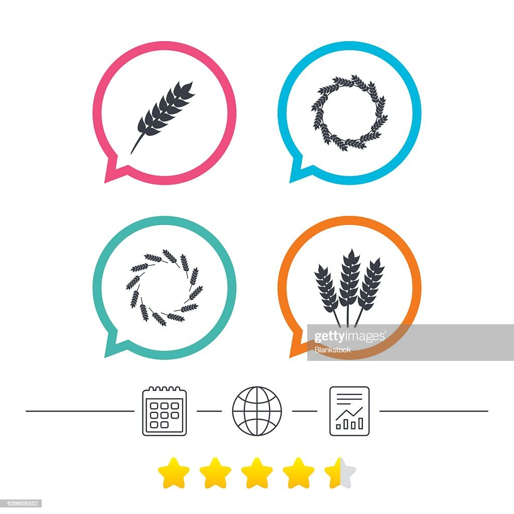 Agricultural Icons Gluten Free Symbols Stock Illustration - Getty Images