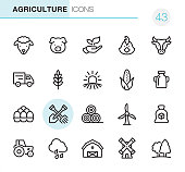 Agriculture and Farm - Pixel Perfect icons