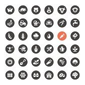 Agriculture and Farm vector icons