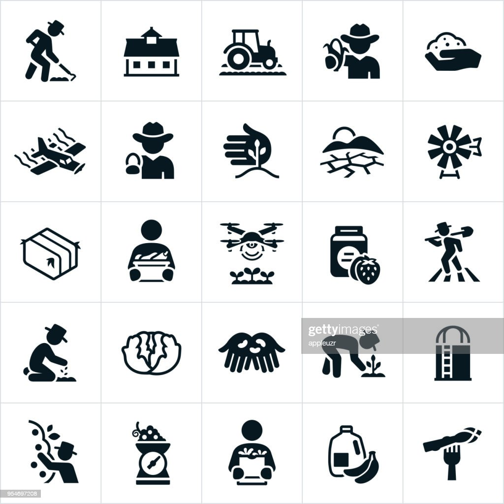 Agriculture and Farming Icons : stock illustration
