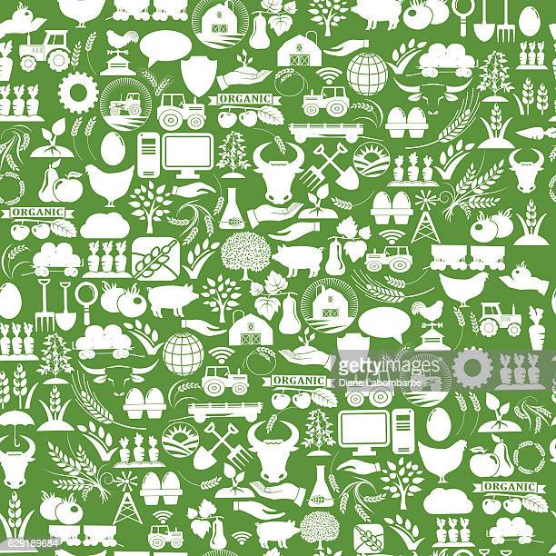 Agriculture And Farming Seamless Repeating Pattern