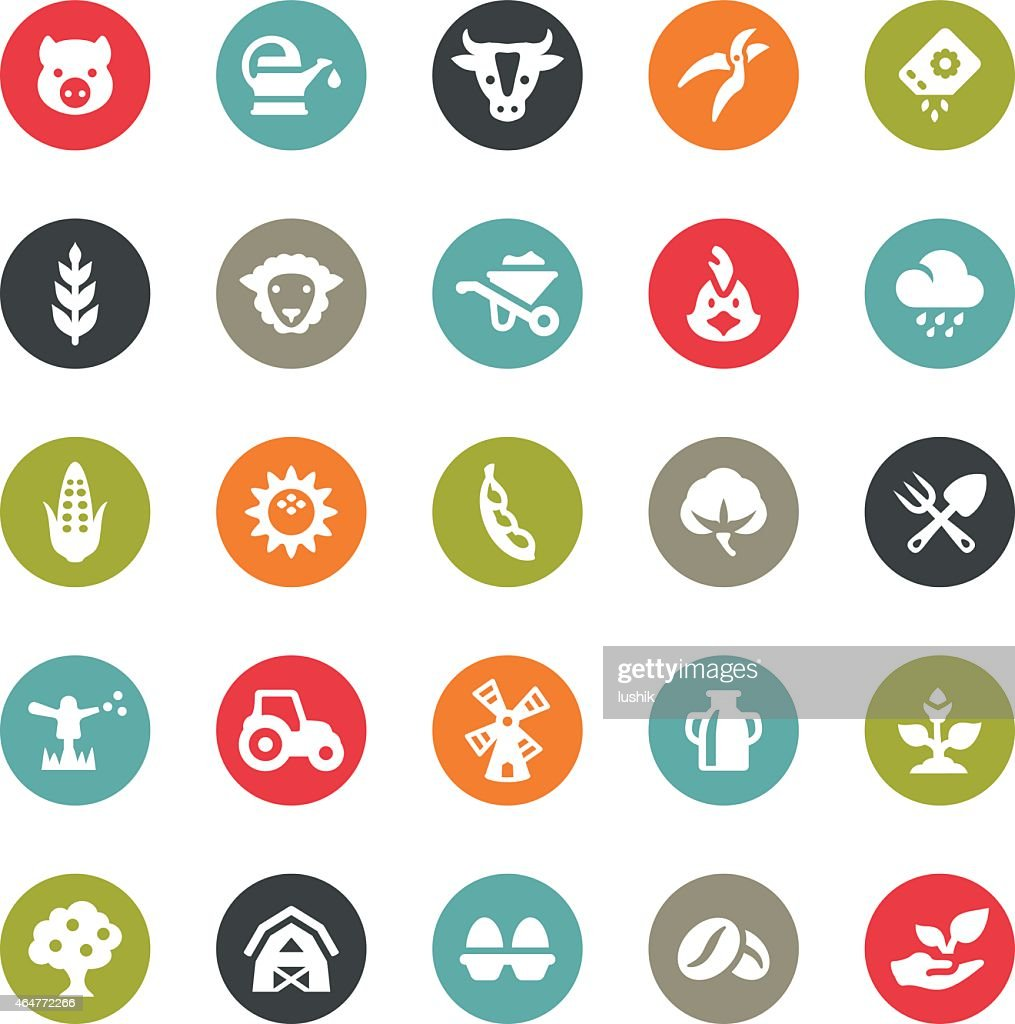 Agriculture and Harvesting icons / Ringico series : Stock Illustration