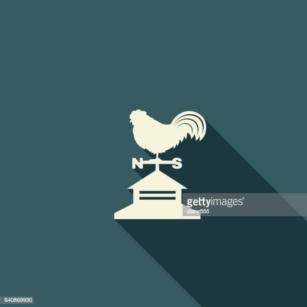 stockillustraties, clipart, cartoons en iconen met landbouw landbouw egale kleur lange schaduw pictogrammen - cupola