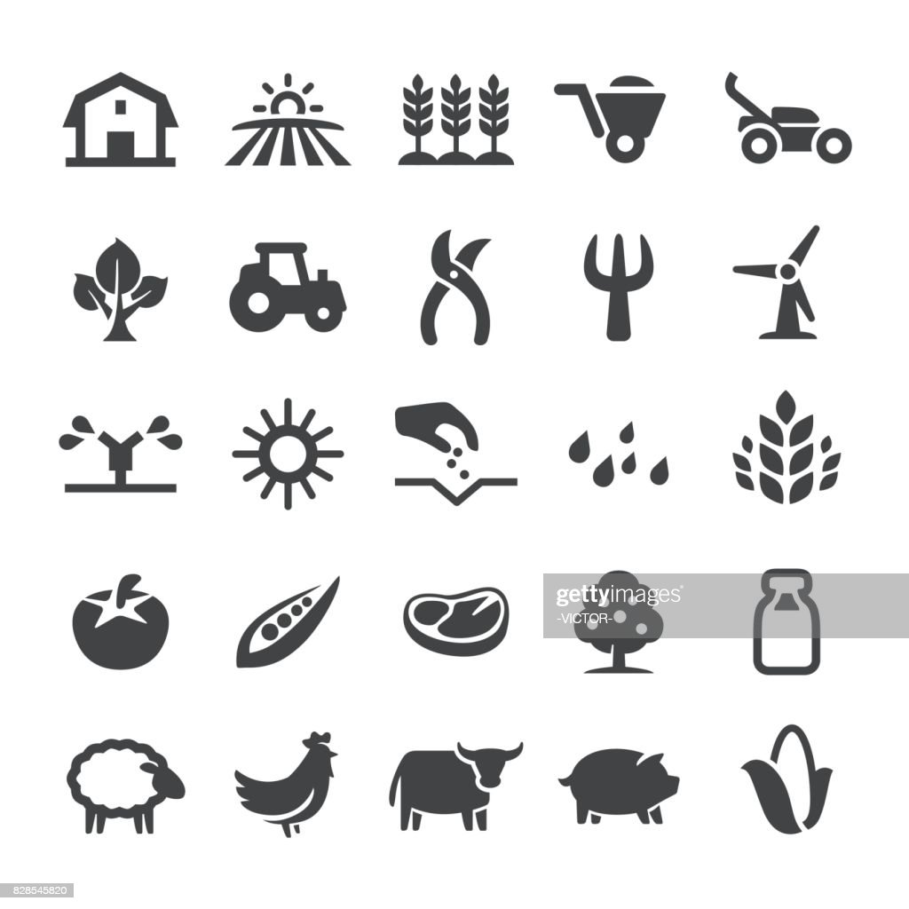 Agriculture Icons - Smart Series : stock illustration