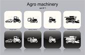 Agro machinery icons