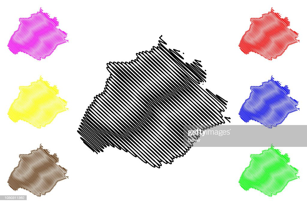 Aguascalientes map vector