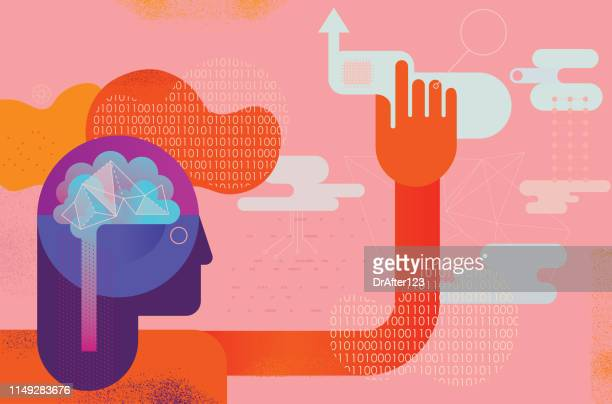 stockillustraties, clipart, cartoons en iconen met ai mind power concept - beslissingen