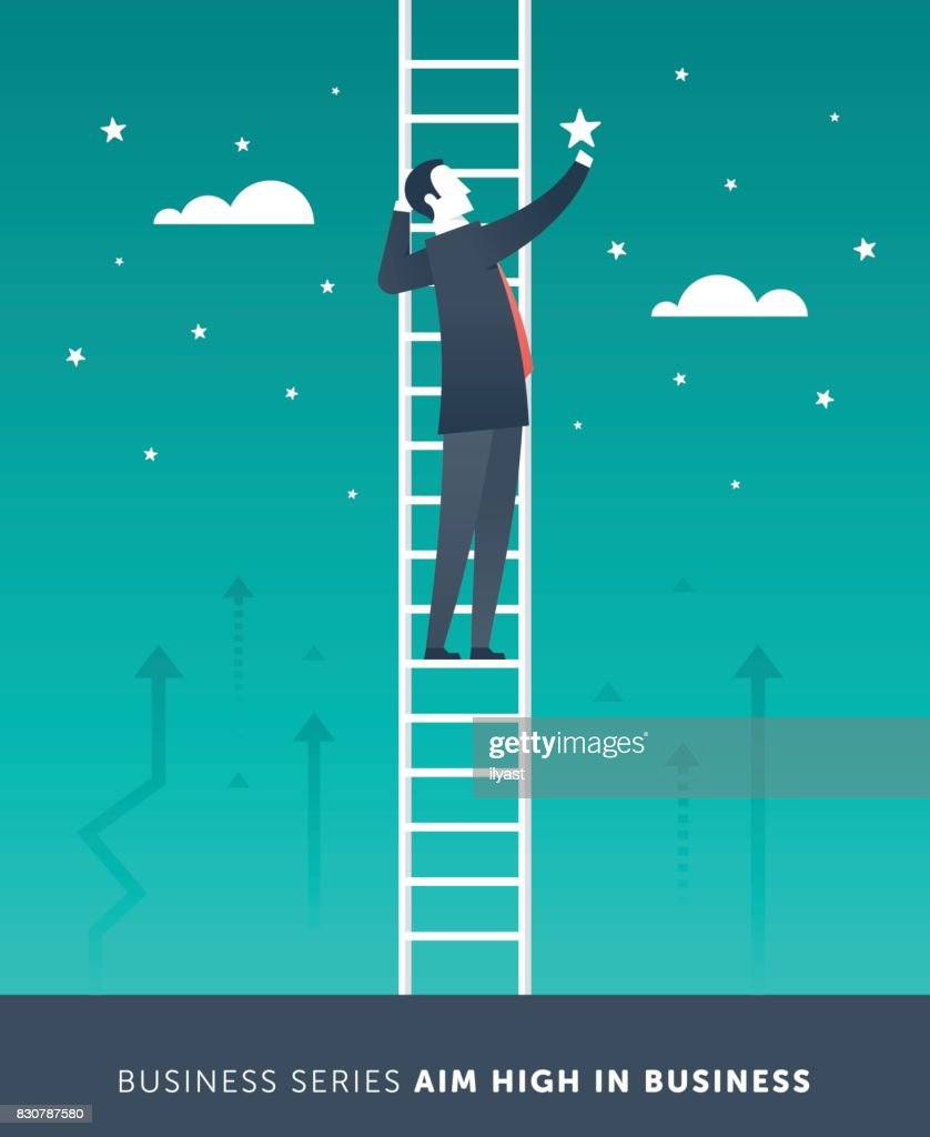 Aim High in Business : stock illustration