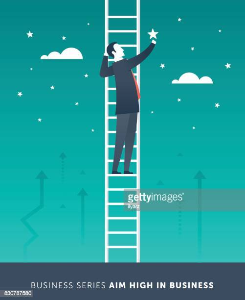 aim high in business - small business stock illustrations