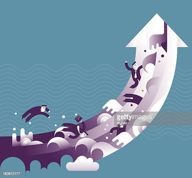 aim high - head above water stock illustrations